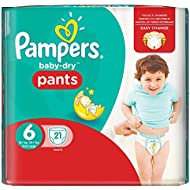 Pampers Baby-Dry Pants Gr.6, 16+kg, 21 Windeln, 1 Packung=1 Impfdosis