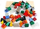 LEGO ® - ca. 60 Stück - Steine Dachsteine Schrägsteine gemischt - farbig sortiert - siehe Foto