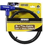 Brinks 675-62601 Home Security Commercial 5 8-Feet x 6-Inch Key Locking Cable