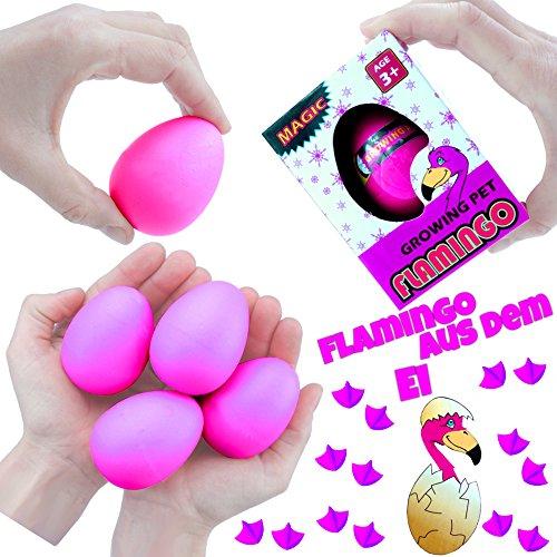 German Trendseller® - 3 x Schlüpfender Flamingo im Ei ★ NEU ★ ┃ ++ Echt schlüpfender Flamingo ++ ┃ Mitgebsel ┃ Kindergeburtstag ┃ Flamingo ┃ 3 Stück