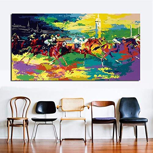 mälde Wandkunst Leinwand Dekorative Wohnzimmer Malerei Wandmalerei Bild Kein Rahmen (Size (Inch) : 16x32) ()