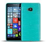 Nokia Lumia 930 TPU Gummi Hülle Blau, Metall Optik Brush Design, Schutzcover Bumper, Handyhülle aus Silikon Lumia 930 Cover Rückschale Blau, Nokia Lumia 930 (5,0 Zoll (12,7 cm)