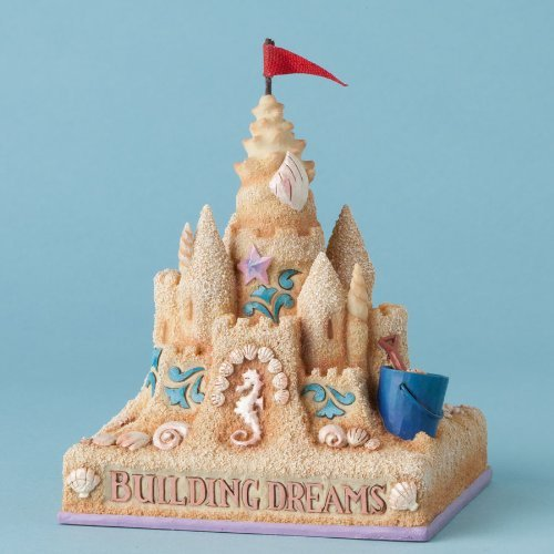 Enesco Jim Shore Heartwood Creek Building Dreams Sand Castle Figurine, 5 IN Sand Castle Building