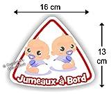 Jumeaux à bord Garçon / Garçon - Sticker Autocollant bébé à bord modèle 3