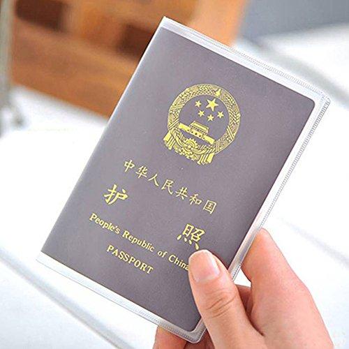 UxradG 2 tipos de funda de pasaporte transparente impermeable organiza