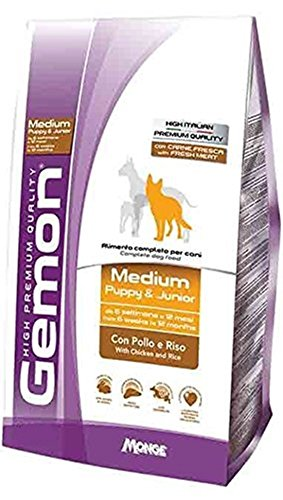 Monge Gemon Medium Puppy & Junior con Pollo e Riso 15 kg crocchette cane cucciolo