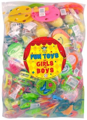 Henbrandt BULK BUY Party Bag Toys - 100 Assorted DELUXE Stocking Filler Toys - Pinata