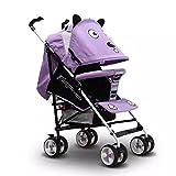 HUALQ Fahrradkinderwagenkinderwagenkinderwagen-Babyauto-Babyregenschirmauto-Lichtfaltendes Einfaches tragbares