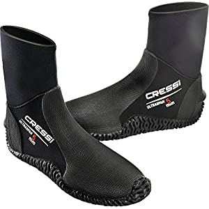 Cressi Ultraspan Dive Boots 5mm Premium Neoprene, Black - XS-4/4.5