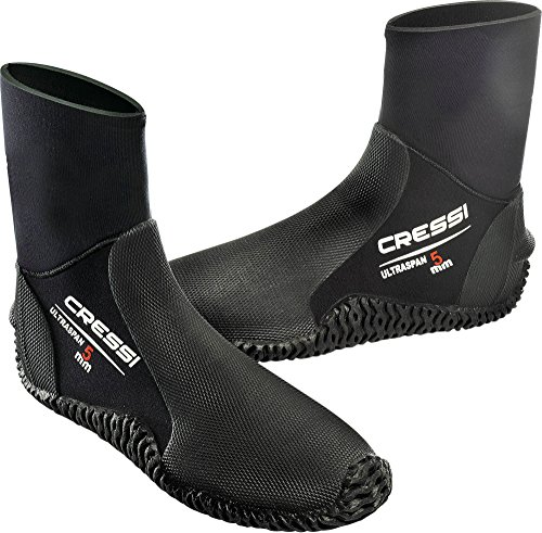 Cressi Ultraspan Boots Calzari in Neoprene con Suola, 5 mm, Nero, XL