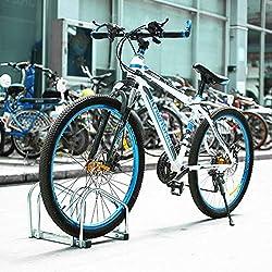 FEMOR Aparca Bicicleta Soporte Para Bicicleta Suelo Pared Aparcamiento de bicicletas Parking de 2 Bici
