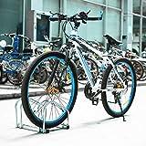 Femor Fahrradständer Bodenparker für 2 Fahrräde Mehrfachständer Twin Bicycle Stand (Silber farbe)