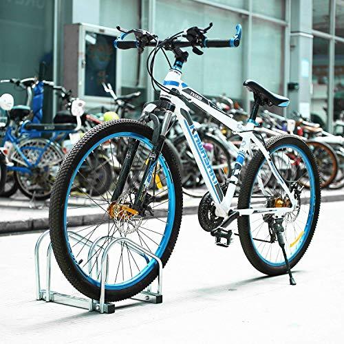 FEMOR Aparca Bicicleta Soporte Para Bicicleta Suelo Pared Aparcamiento de bicicletas Parking...