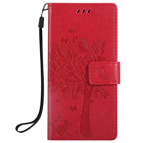 Nancen Tasche Hülle für Sony Xperia XZ (5,2 Zoll) Flip Schutzhülle Zubehör Lederhülle mit...