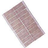 FLAMEER 20x Glitter Serviettenringe Serviettenhalter Tuchring für Stoff-Papierservietten, aus Kunststoff - Rot