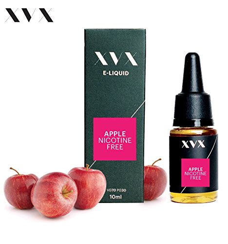 XVX E-Liquid \\ Apfel Geschmack \\ Elektronisches Liquid Für E-Zigarette \\ Elektronische Shisha Liquid \\ 10ml Flasche \\ Nadelspitze \\ Präzise Befllung \\ Nikotinfrei