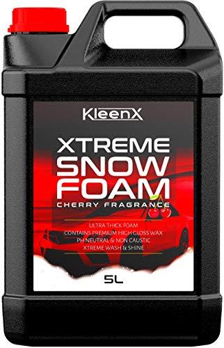 Kleenx Cherry Snow Foam Auto-Shampoo Reiniger - enthält Premium Wachs - professionelle Reinigung & Valeting Ergebnisse - Xtreme Dicker Schaum - pH-Ausgewogener und Nicht ätzend.