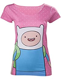 Adventure Time Women's Finn With Dots AT T-shirt Pink