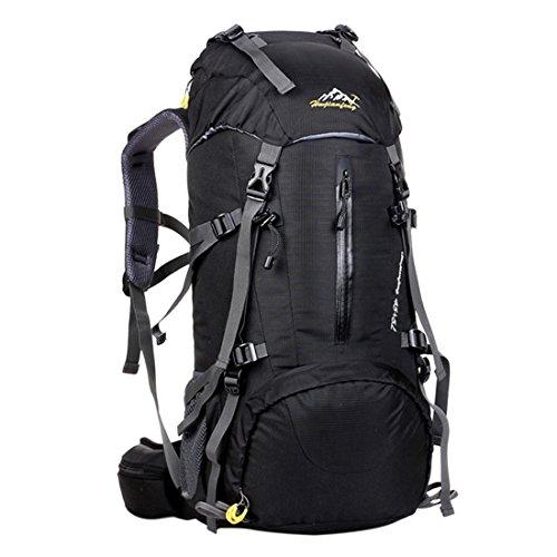 iTECHOR Grande capacità all'aperto alpinismo zaino di campeggio Sport Viaggi Trekking Zaini- Nero