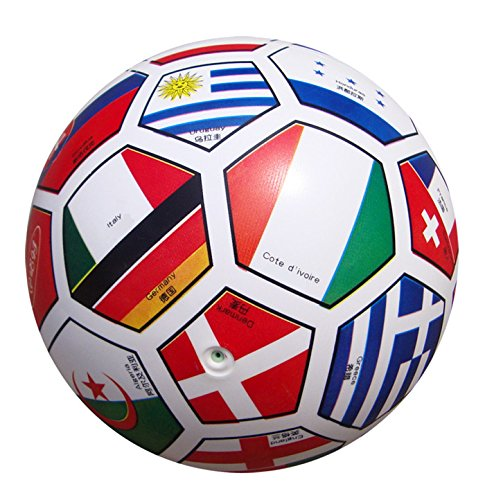 SKNSM Drôle Enfants Bébé Jouet Pays Motif Apprendre Le Football Jouet Éducatif Ballon d'Entraînement Ballon d'Observation de