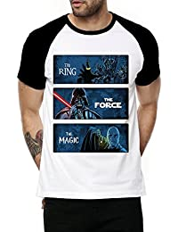 [Sponsored Products]Fanideaz Cotton 3 Epic Movies Villains Half Sleeve Raglan T Shirt For Men