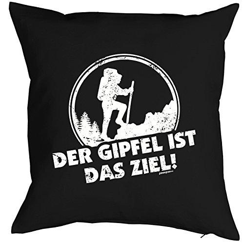 BERGE Deko Kissen Der GIPFEL ist das ZIEL! Alpen Gipfel - kuscheliges Präsent