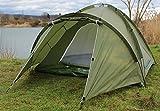 DD-Tackle 2 Mann Karpfenzelt + Vorzelt 300 x 180 x 120cm Bivvy Angelzelt Carp Dome Shelter