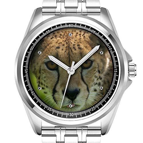 enuhr Mode wasserdicht Uhr Armbanduhr Diamant 294.Cheetah Uhr ()