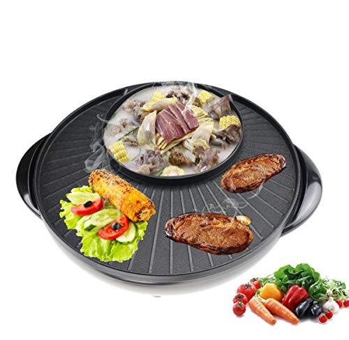 Grill Hot Pot Koreanische Spülung Gebacken Ein Topf Zu Hause Strom-Ofen Kein Rauch Elektrischen Grill Grill-Multi-Stick-Hot-Pot 36Cm