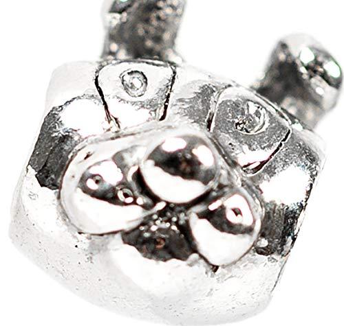 Beads Charms Schmuck Glasperlen Anhänger Unisex Zwischen-Element Doggy Hund Kopf Glücksbringer Motiv