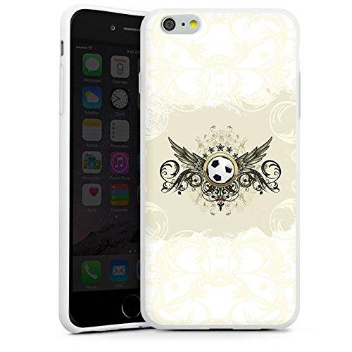 Apple iPhone 6 Plus Silikon Hülle Case Schutzhülle fussball fußball sport Silikon Case weiß