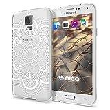 NALIA Handyhülle für Samsung Galaxy S5 S5 Neo, Designs:Pattern Flowers