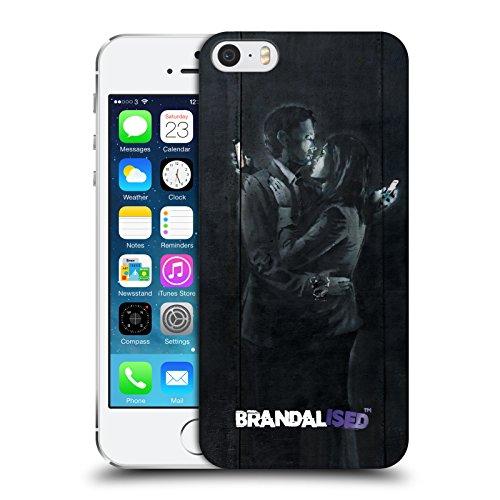 Ufficiale Brandalised Soldato Perquisito Banksy Arte Tag Di Strada Cover Retro Rigida per Apple iPhone 6 Plus / 6s Plus Amanti Cellulare