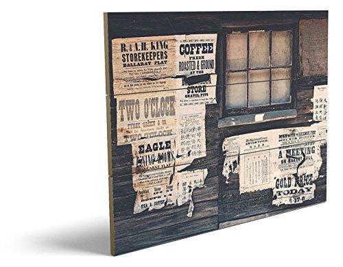 Männliche Teufel Kostüm Bilder (Wild West Style, qualitatives MDF-Holzbild im Drei-Brett-Design mit hochwertigem und ökologischem UV-Druck Format: 80x60cm, hervorragend als Wanddekoration für Ihr Büro oder Zimmer, ein Hingucker, kein Leinwand-Bild oder)