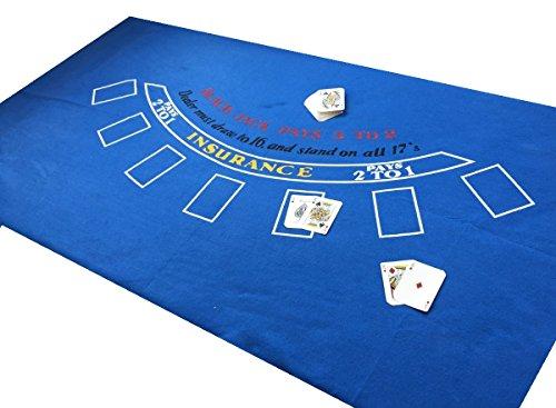Große Authentic * blau * Las Vegas Marke neue 6ft BY 3Ft Black Jack Filz Plus Spielkarten