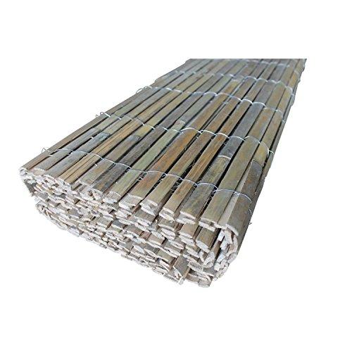 TOP MULTI 10414ga1107-0005 Bambus Sichtschutz-Zaun Handarbeit 1,5m x 5m, Höhe und Breite individuell anpassbar