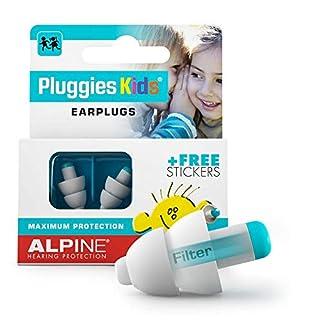 Alpine Pluggies Kinder Gehörschutz Ohrstöpsel - Ohrenstöpsel Für Kind und kleine Gehörgänge - Zum Fliegen und Schwimmen - Bequemes hypoallergenes Material - Wiederverwendbar