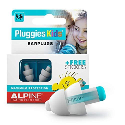 Alpine Pluggies Kids - Gehörschutz Kinder - mit Gratis Namensaufkleber