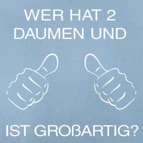 WER HAT ZWEI DAUMEN UND IST GROßARTIG - Herren T-Shirt - 13 Farben Himmelblau