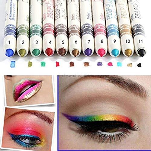 CINEEN 12 Farbe Glitter Eyeliner Pencil Lidstrich Augen Liner Eye Kosmetik Makeup Set