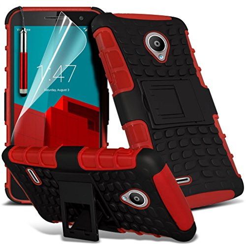 i-Tronixs ( Red ) <b>     Le cas Apple iPhone 6S housse étui     </b>     case étui Premium Quality S Line Wave Gel Case Skin Cover With LCD Tempered Glass Screen Protector Guard, Polishing Cloth & Mini Retractabl Shock proof + Pen (Red)