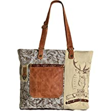 8e5dad85de8aa Domelo Tracht Damen Trachtentasche Dirndltasche große Shopper Handtasche  Handgelenktasche Vintage Tasche Canvastasche mit Hirsch Design