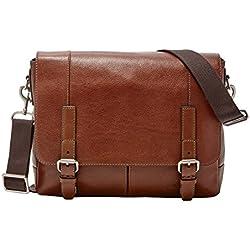 Fossil Leather Cognac Messenger Bag (MBG9226222)