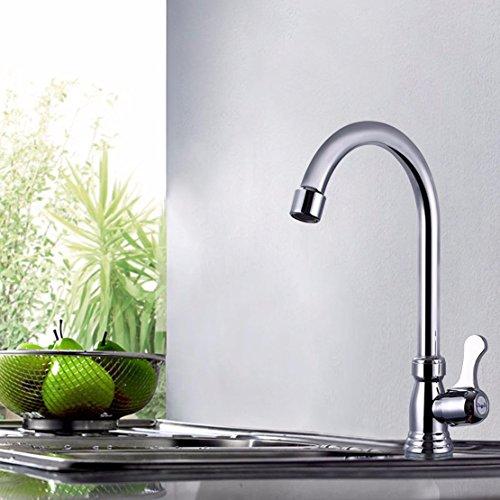 Preisvergleich Produktbild SDKIR-Big Bend kleine vertikale einzigen Kaltwasserhahn Waschbecken drei schnelle offene Küchenarmaturen