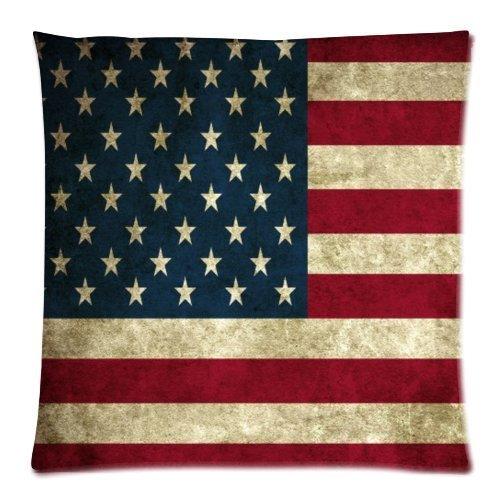 American Flagge leicht quadratisch Reißverschluss Kissenbezüge 45,7x 45,7cm (eine Seite) (Garten Benutzerdefinierte Flag)