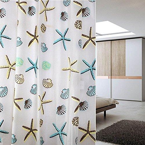 Fancyku Waterproof/Mildew Proof Fabric Shower Curtain Multi Color 180 * 200cm