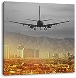 Urlaubsreise nach Las Vegas B&W Detail, Format: 40x40 auf Leinwand, XXL riesige Bilder fertig gerahmt mit Keilrahmen, Kunstdruck auf Wandbild mit Rahmen, günstiger als Gemälde oder Ölbild, kein Poster oder Plakat