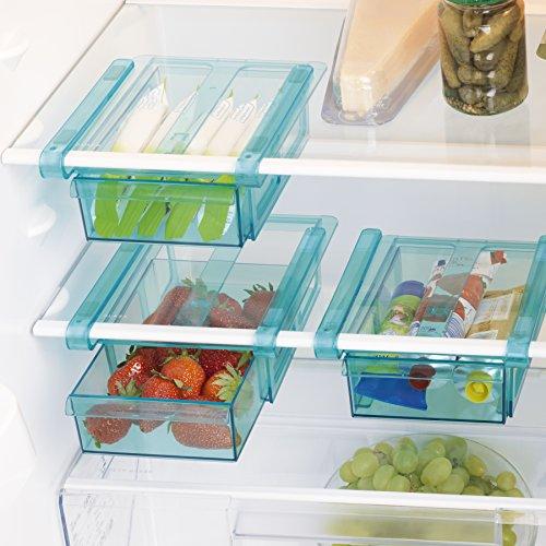 Klemm-Schublade für Kühlschrank 3er-Set transparent Schublade Aufbewahrungsbox Kühlschrankbox Schublade Aufbewahrungskiste Gemüsefach Kühlfach Gemüseschale Fach Zusatzfach (Platte-aufbewahrungsbox)