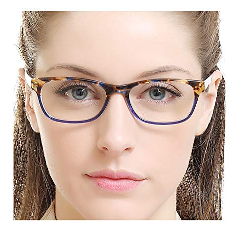 OCCI CHIARI Colored Stylish Glasses Frame Non-Prescription Eyewear Frame with Clear Lenses Gifts for...