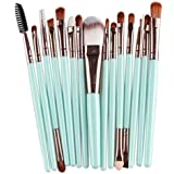 Hosaire 15Pcs Maquillaje profesional de los cepillos kit de sombra de ojos cepillo de base cejas cepillos del maquillaje forma del cepillo de dientes Nuevo Estilo 2017